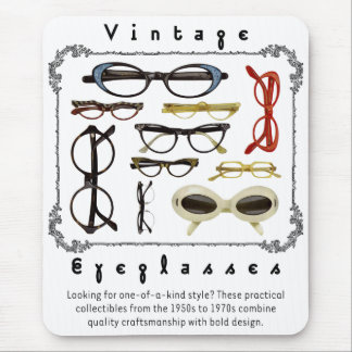 Vintage Eyeglasses 01 Mouse Mat