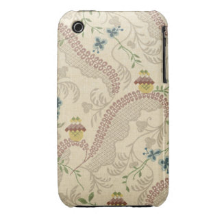 Vintage Fabric (124) iPhone 3 Case-Mate Cases