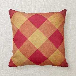 Vintage fabric diamonds pattern cushion