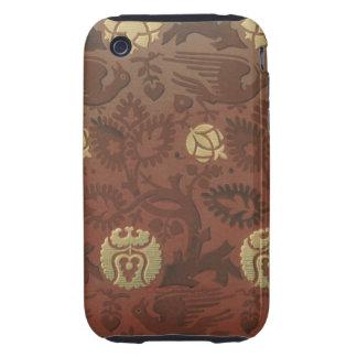 Vintage Fabric iPhone 3 Tough Cases