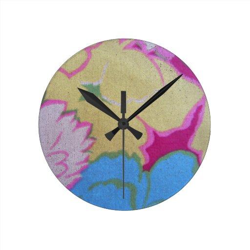 Vintage Fabric Wall Clock