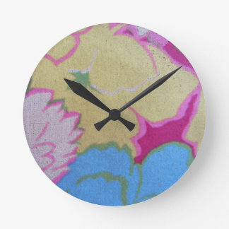 Vintage Fabric Wall Clock