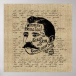 Vintage Face Soap Ad on Gold Miner's Letter Poster
