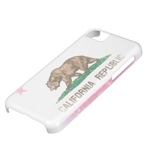 Vintage Fade California Flag Cover For iPhone 5C