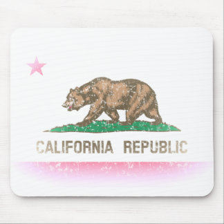Vintage Fade California Flag Mouse Mat