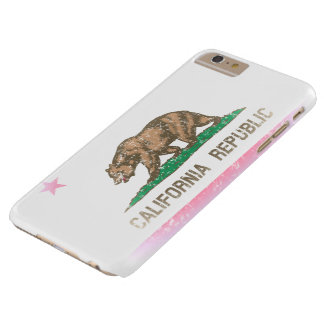 Vintage Fade California Republic Flag Barely There iPhone 6 Plus Case