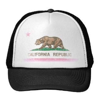 Vintage Fade California Republic Flag Hats