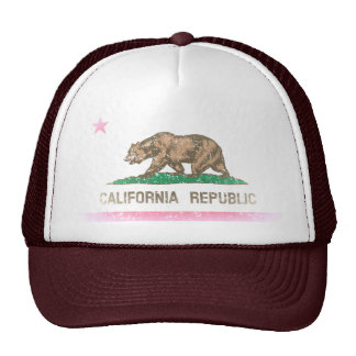 Vintage Fade California Republic Flag Cap