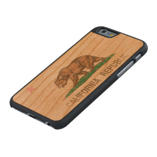 Vintage Fade California Republic Flag Carved® Cherry iPhone 6 Case