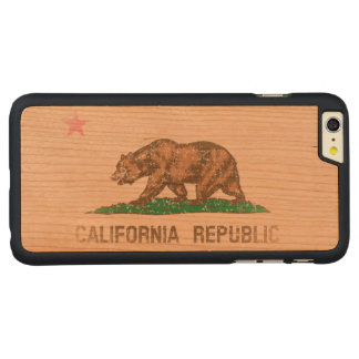 Vintage Fade California Republic Flag Carved® Cherry iPhone 6 Plus Case