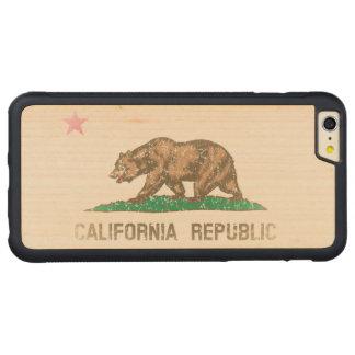 Vintage Fade California Republic Flag Carved® Maple iPhone 6 Plus Bumper Case