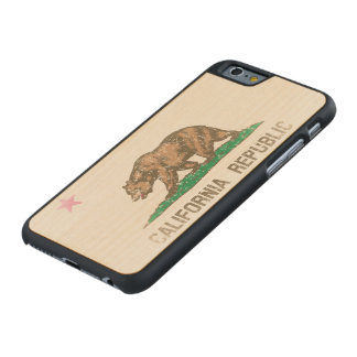 Vintage Fade California Republic Flag Carved® Maple iPhone 6 Case