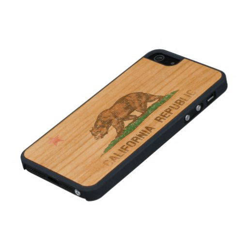 Vintage Fade California Republic Flag Carved® Cherry iPhone 5 Slim Case