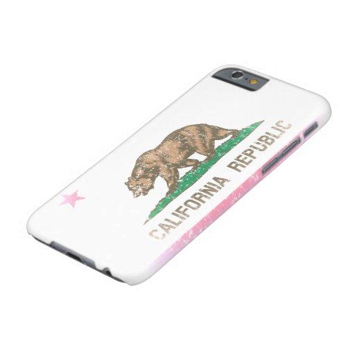 Vintage Fade California Republic Flag iPhone 6 Case