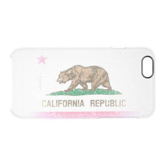 Vintage Fade California Republic Flag Clear iPhone 6/6S Case