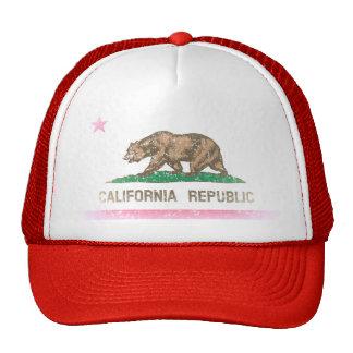 Vintage Fade California Republic Flag Trucker Hats