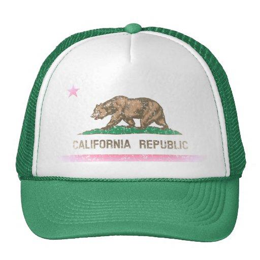 Vintage Fade California Republic Flag Hat