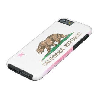 Vintage Fade California Republic Flag Tough iPhone 6 Case