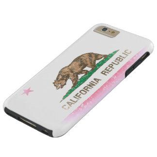 Vintage Fade California Republic Flag Tough iPhone 6 Plus Case