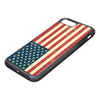 Vintage Faded American Flag USA OtterBox Symmetry iPhone 8 Plus/7 Plus Case