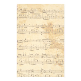 Vintage Faded Old Sheet Music Parchment Stationery