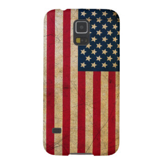Vintage Faded Old US American Flag Antique Grunge Galaxy S5 Case