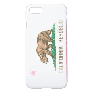 Vintage Faded State Flag of California Republic iPhone 7 Case