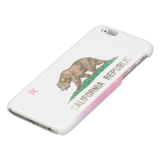 Vintage Faded State Flag of California Republic Glossy iPhone 6 Case