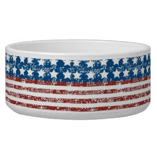 Vintage Faded USA Flag Multi Use Pet Food Bowls