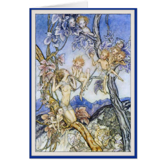 Vintage Faerie & Faerie Children - Greeting Card