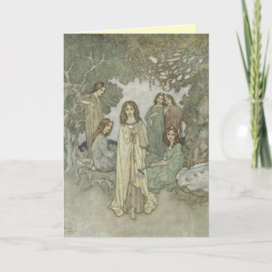 Old fashioned birthday greetings gifts gift ideas zazzle uk vintage faerie greeting card m4hsunfo