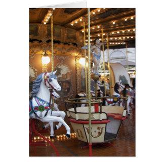 Vintage Fairground Carousel Greeting Cards