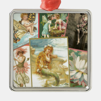 Vintage Fairies and Mermaids Christmas Ornament