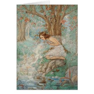 Vintage - Fairies at the Stream - Card