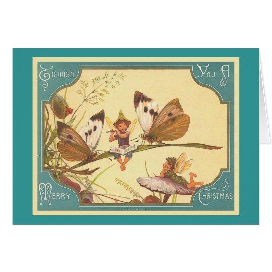 """""""Vintage Fairies Christmas Card"""" Card"""