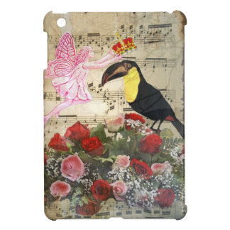 Vintage fairy and bird collage iPad mini cases