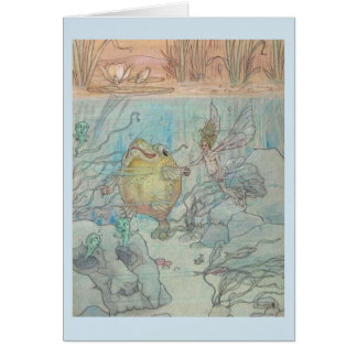 Vintage Fairy and Fish Dancing - Card