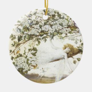 Vintage Fairy Ariel 1858 Christmas Ornament