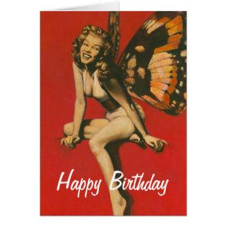 Vintage Fairy Birthday Card