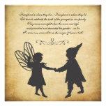 Vintage Fairy & Gnomes Birthday Garden Tea Party Personalized Invite