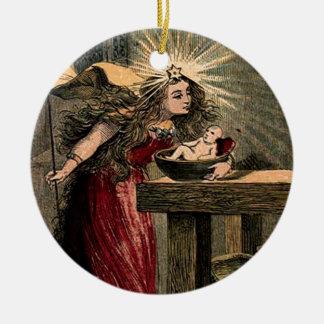 Vintage Fairy Godmother Christmas Ornament