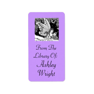 Vintage Fairy Illustration Bookplate Stickers Gift