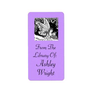 Vintage Fairy Illustration Bookplate Stickers Gift Address Label