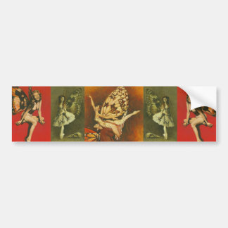 Vintage Fairy pin-ups Bumper Sticker