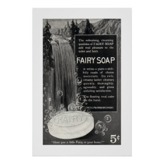 Vintage Fairy Soap Ad from 1916 Poster