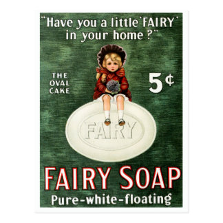 Vintage Fairy Soap Advertisement Postcard