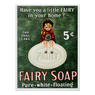 Vintage Fairy Soap Advertisement Poster