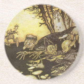 Vintage Fairy Tale, Band of Workmen by Rackham Coaster