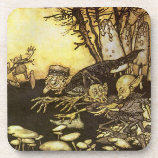 Vintage Fairy Tale, Band of Workmen by Rackham Drink Coaster