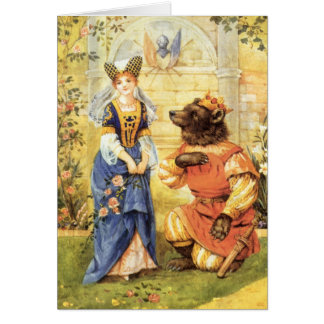 Vintage Fairy Tale, Beauty and the Beast Greeting Card